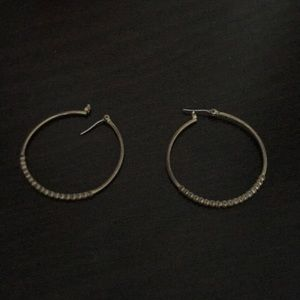 Gold color hoops with gold beads